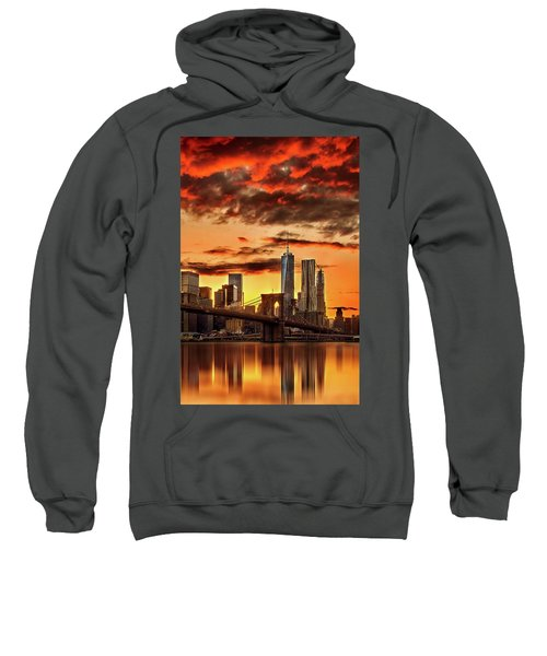 Blazing Manhattan Skyline Sweatshirt