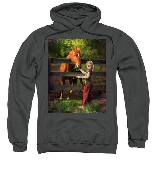 Blond With Horse Sweatshirt