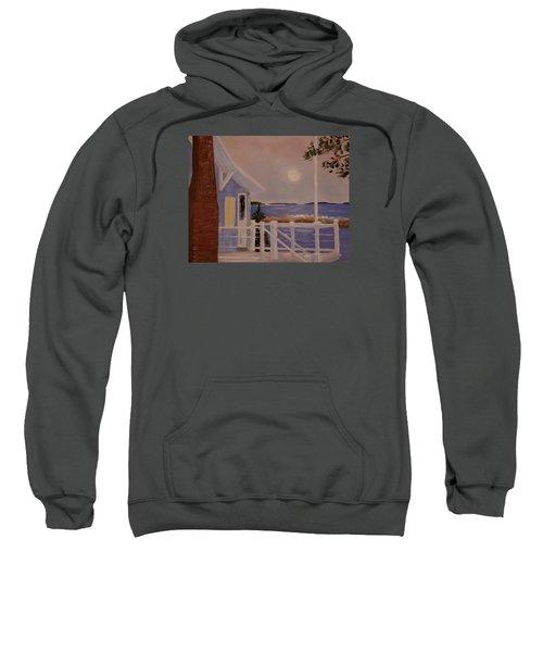 Blood Moon Over Muscongus Sound Sweatshirt