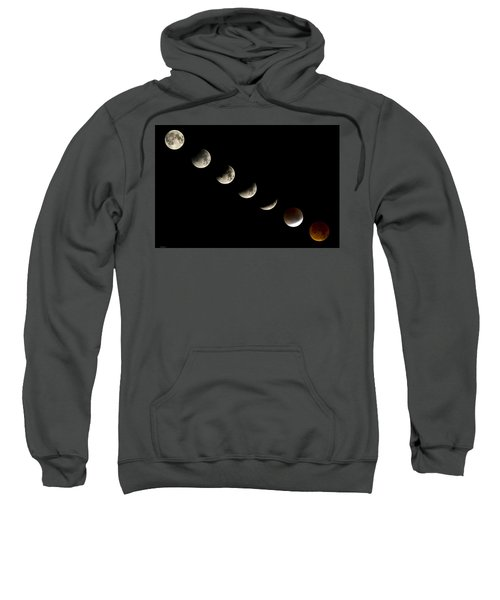Bloodmoon Lunar Eclipse With  Phases Composite Sweatshirt