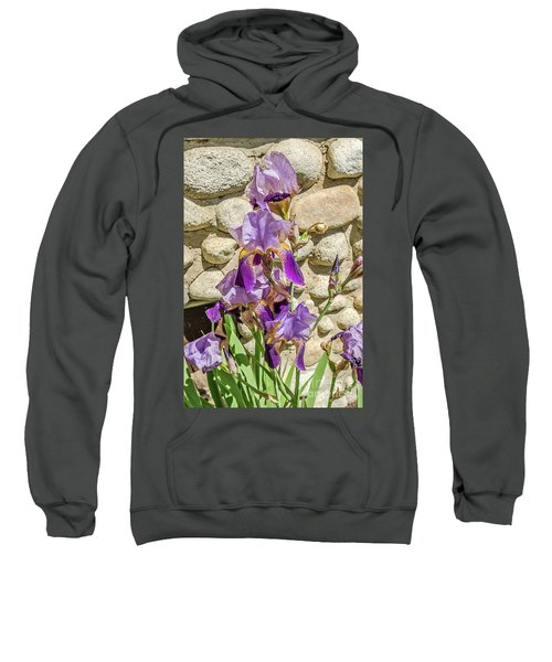 Blooming Purple Iris Sweatshirt
