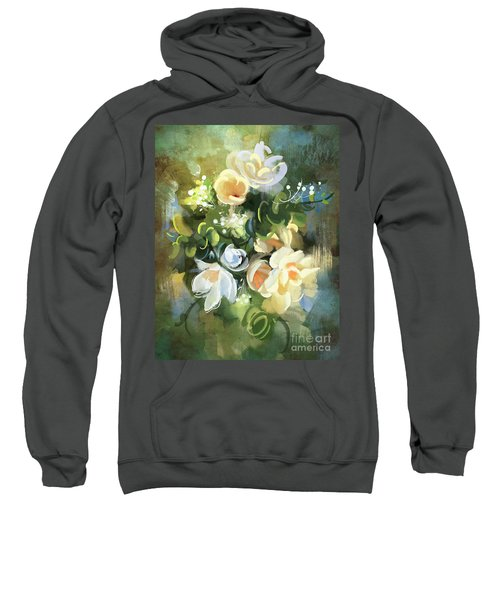 Sweatshirt featuring the painting Blooming by Tithi Luadthong