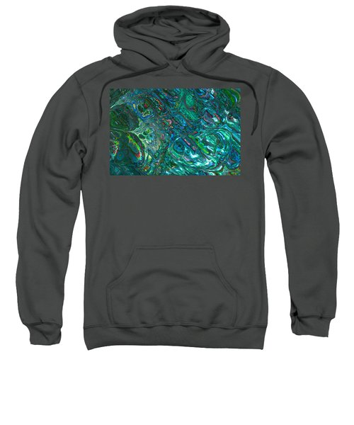 Blue Abalone Abstract Sweatshirt