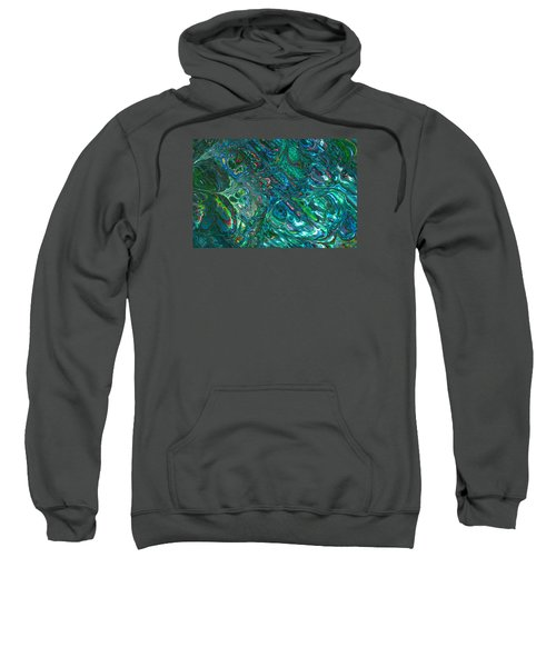 Blue Abalone Abstract Sweatshirt