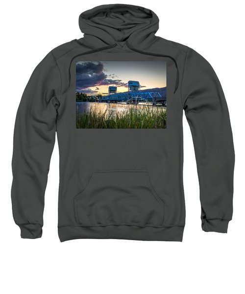 Blue Bridge Through The Grass Sweatshirt