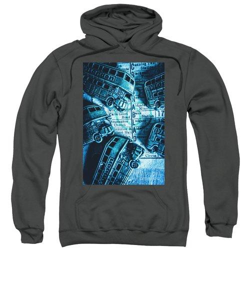 Blue Britain Bus Bill Sweatshirt