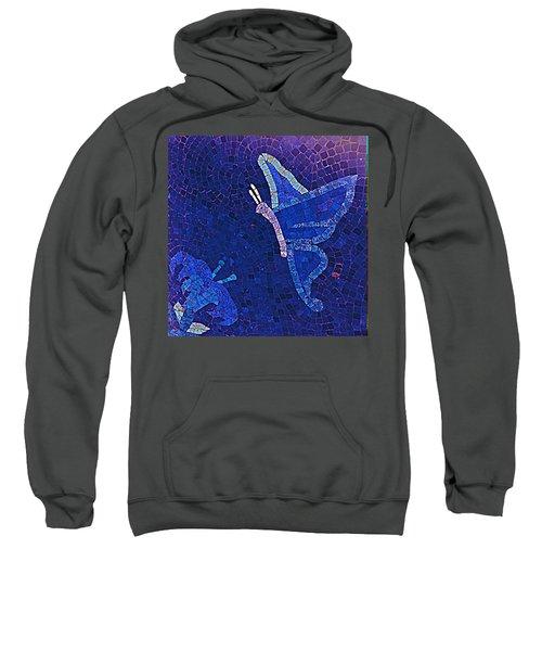 Blue Butterfly And Flower Sweatshirt