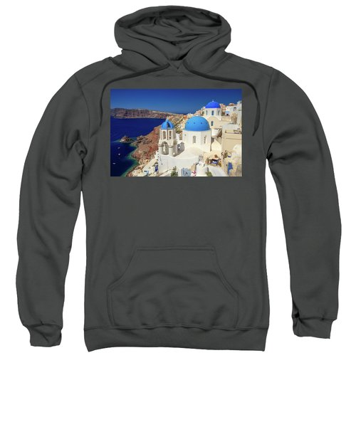 Blue Domed Churches Sweatshirt