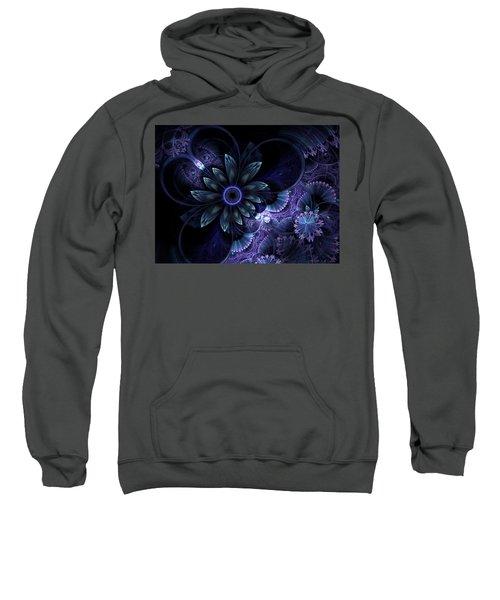Blue Fleur And Lace Sweatshirt