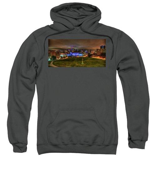Blue Lights On Kansas City Union Station Kansas City Missouri Art Sweatshirt