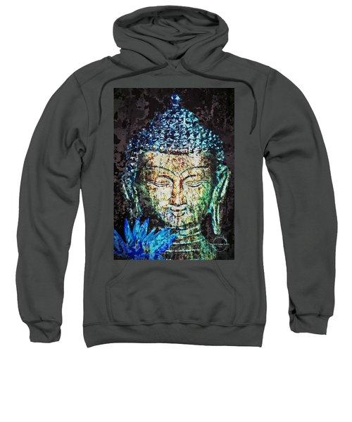 Blue Lotus Buddha Sweatshirt