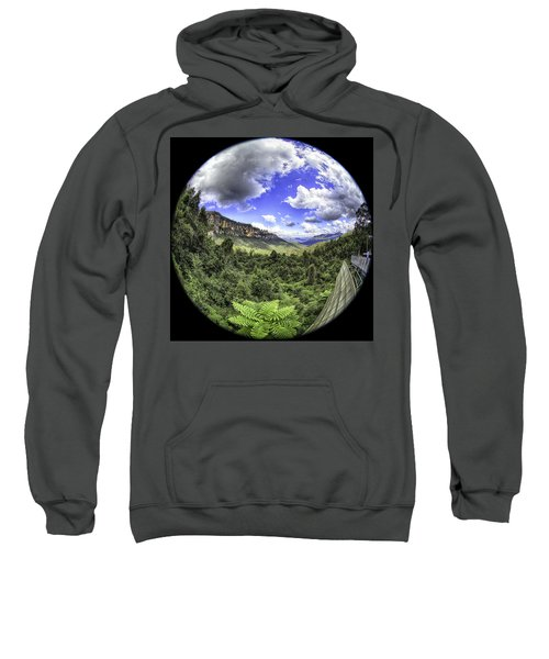 Sweatshirt featuring the photograph Blue Mountains Fisheye by Chris Cousins