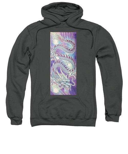 Blue Purple Japanese Dragon Sweatshirt