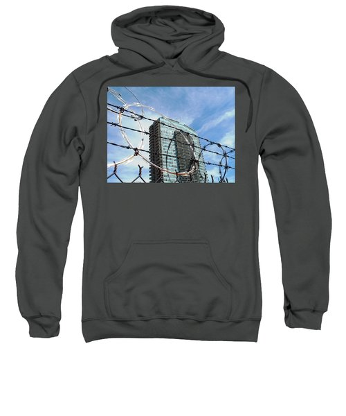 Blue Sky And Barbed Wire Sweatshirt