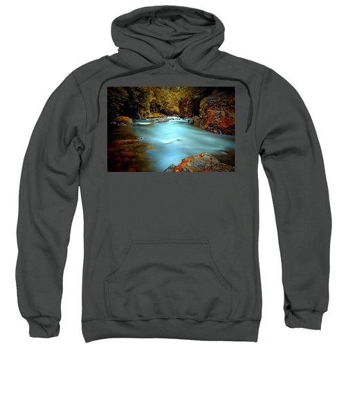 Blue Water And Rusty Rocks Sweatshirt
