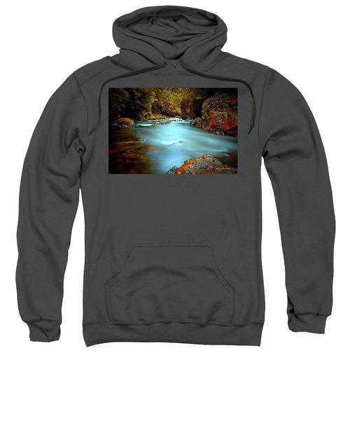 Blue Water And Rusty Rocks Signed Sweatshirt