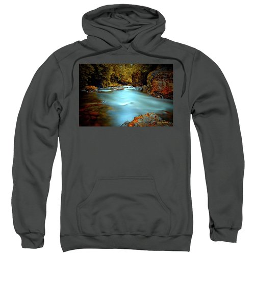 Blue Water And Rusty Rocks Signed Sweatshirt