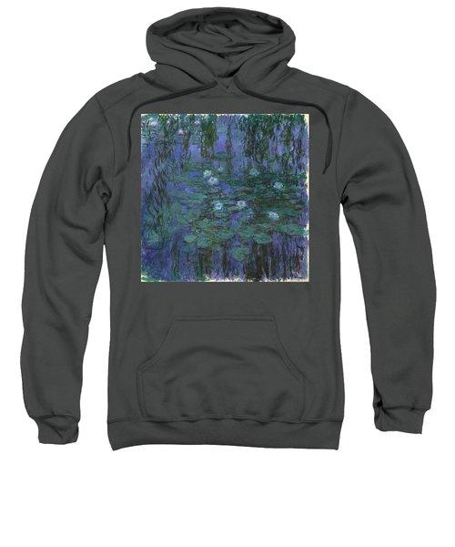 Blue Water Lilies, 1919 Sweatshirt