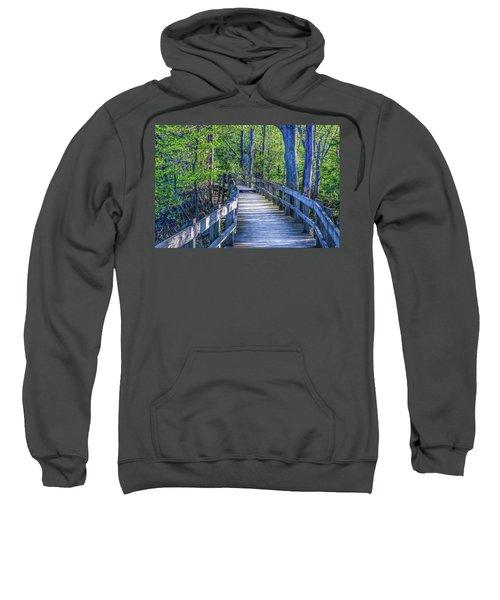 Boardwalk Going Into The Woods Sweatshirt