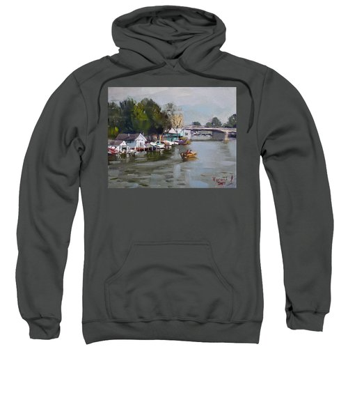 Boat Houses At North Tonawanda Sweatshirt