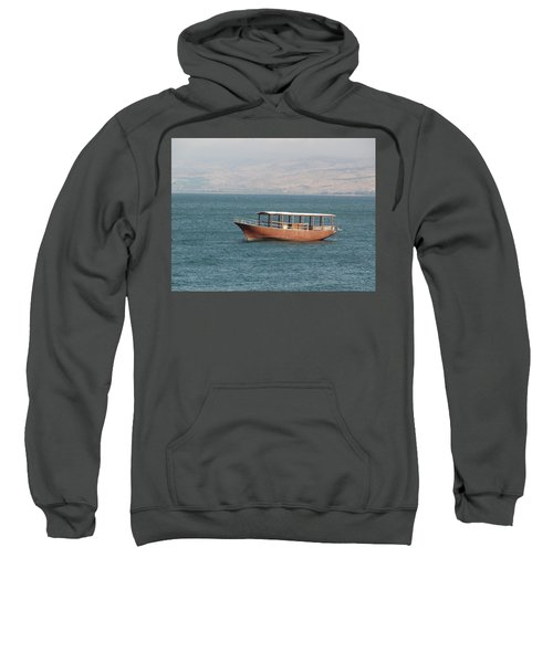Boat On Sea Of Galilee Sweatshirt