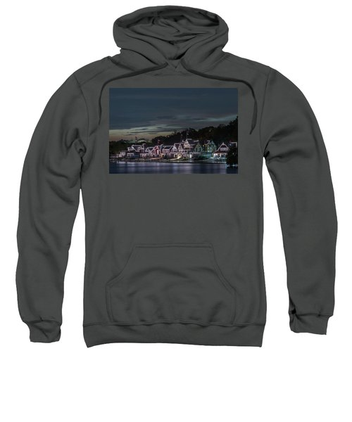 Boathouse Row Philly Pa Night Sweatshirt