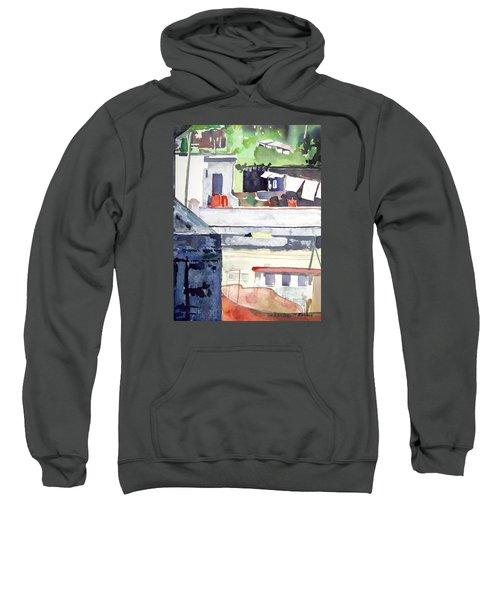 Boats On The Quay Sweatshirt