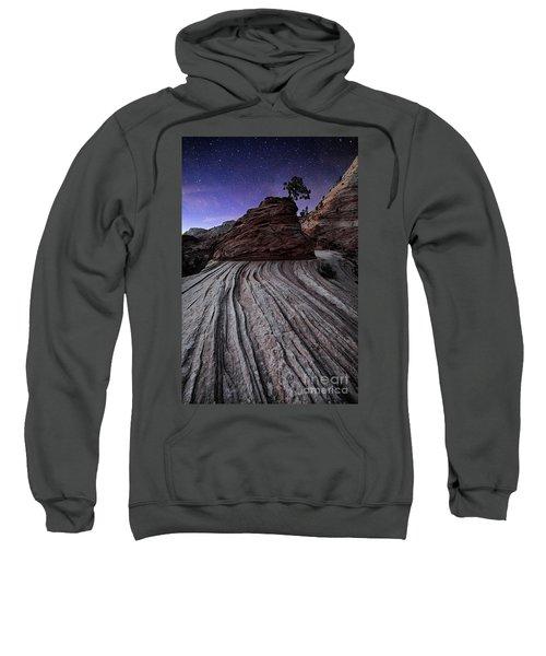 Bonzai In The Night Utah Adventure Landscape Photography By Kaylyn Franks Sweatshirt