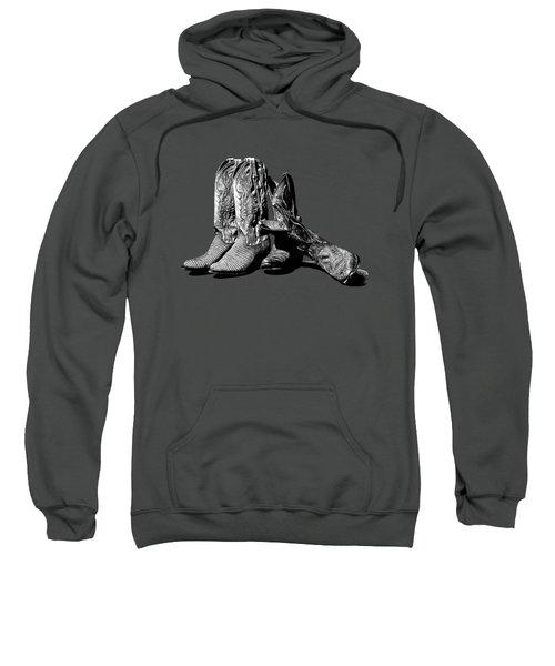 Boot Friends Gray Background Sweatshirt