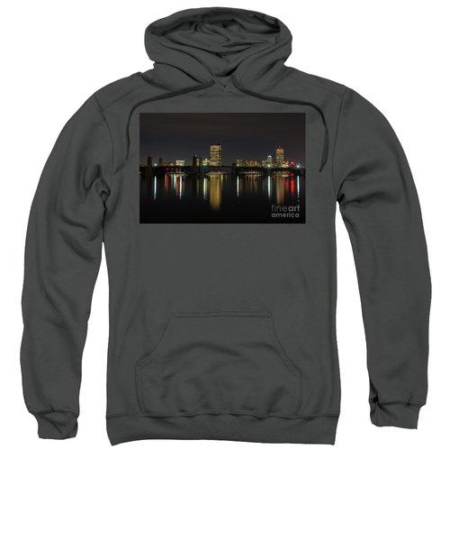 Boston Skyscrappers Behind Bridge Sweatshirt