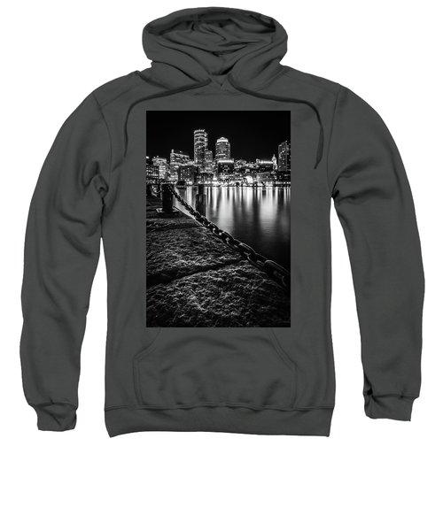 Boston Harbor At Night Sweatshirt