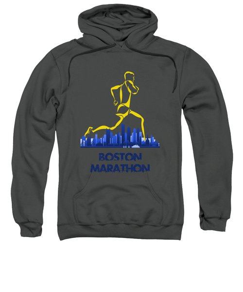 Boston Marathon5 Sweatshirt by Joe Hamilton