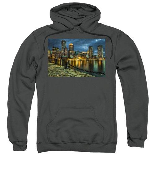 Boston Skyline At Night - Cty828916 Sweatshirt