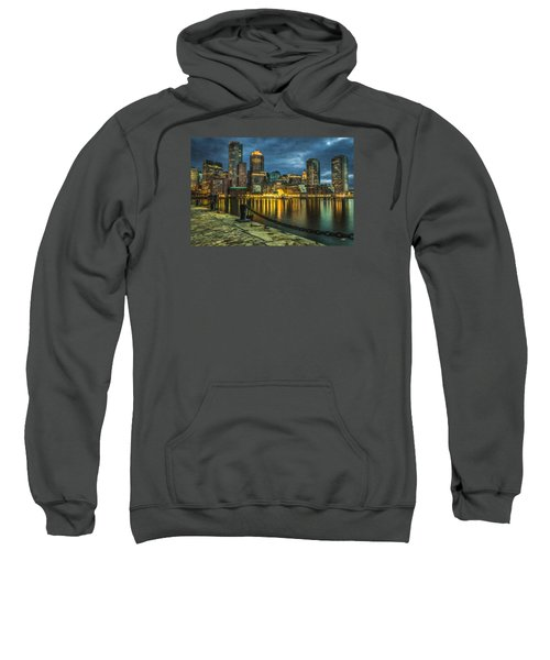 Boston Skyline At Night - Cty828916 Sweatshirt