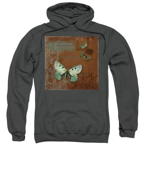Botanica Vintage Butterflies N Moths Collage 4 Sweatshirt