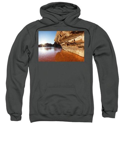 Bouldering Above River Sweatshirt