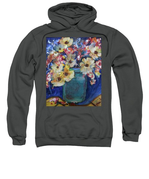 Bouquet Flowers Of Blue  Sweatshirt
