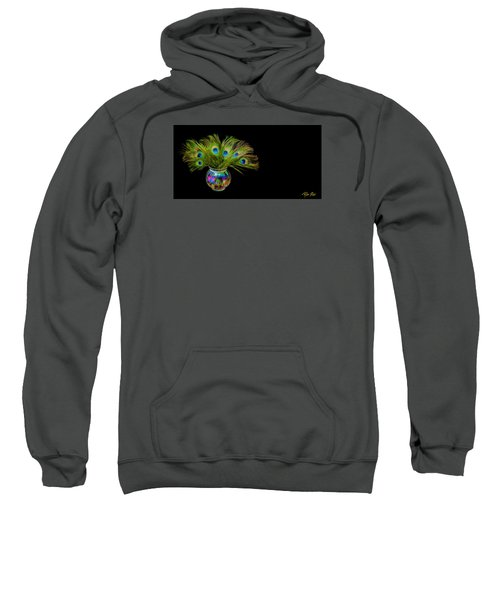 Sweatshirt featuring the photograph Bouquet Of Peacock by Rikk Flohr