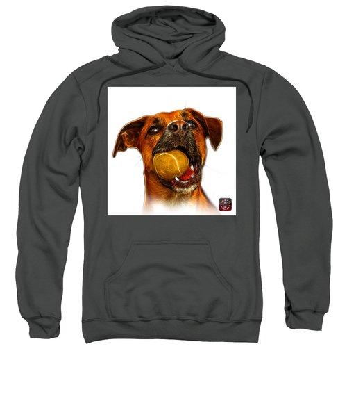 Boxer Mix Dog Art - 8173 - Wb Sweatshirt