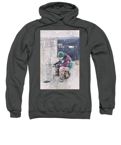 Boy Ice Fishing  Sweatshirt