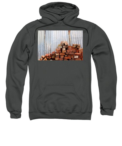 Sweatshirt featuring the photograph Brick Piled by Stephen Mitchell