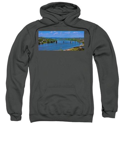 Bridge On The Ohio River Sweatshirt by Jonny D
