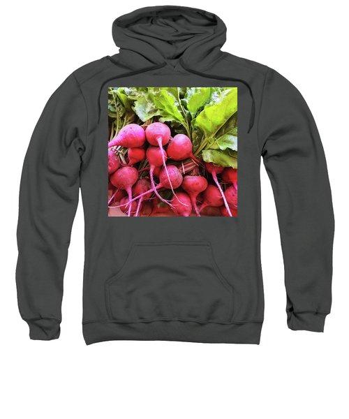Bright Fresh Radish Sweatshirt by GoodMood Art