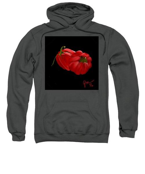 Bright Red Peppers Sweatshirt