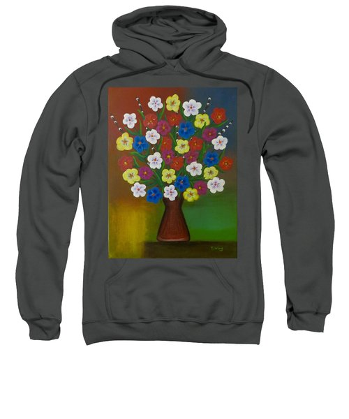 Brilliant Bouquet Sweatshirt by Teresa Wing
