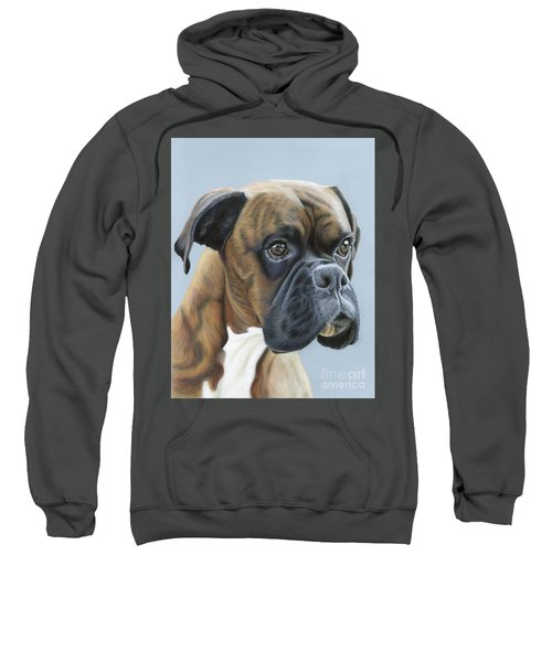 Sweatshirt featuring the painting Brindle Boxer Dog - Jack by Donna Mulley