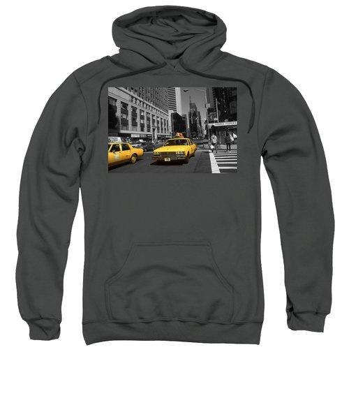 New York Yellow Taxi Cabs - Highlight Photo Sweatshirt