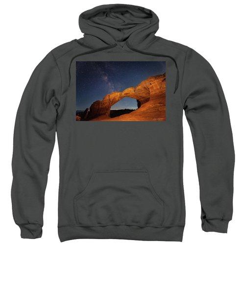 Broken Arch And Milky Way Sweatshirt