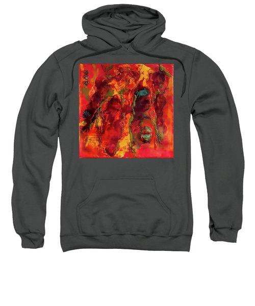Broken Mask Encaustic Sweatshirt by Bellesouth Studio