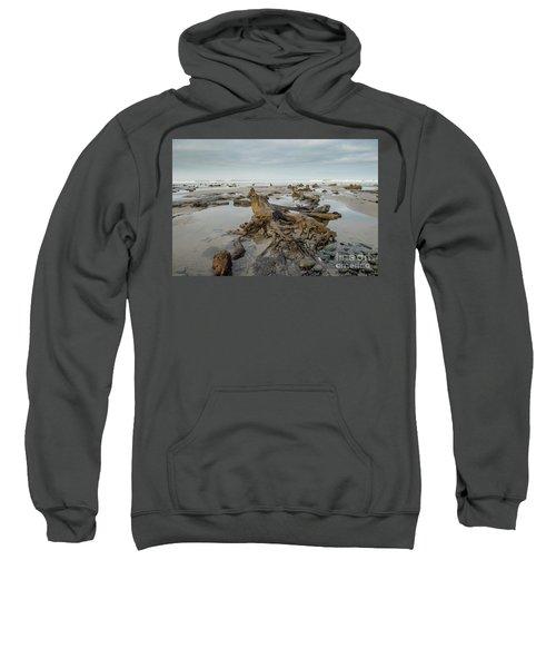 Bronze Age Sunken Forest At Borth On The West Wales Coast Uk Sweatshirt